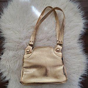 vintage gold 1960s/70s purse